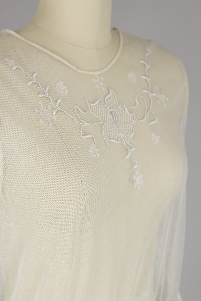 Edwardian 1920s Lace Tea Dress