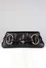Gucci Tom Ford 2003 Rare Black Leather and Rose Gold Horsebit Bag