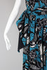 Rare 1940s Batik Print Strapless Hawaiian Summer Dress