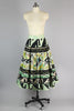 Rare 1940s 50s Hand Painted Mexican Circle Skirt