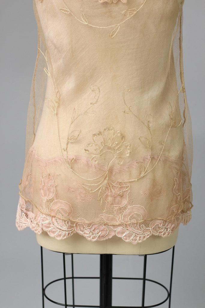 Antique French Tambour Lace Tank Top by Bonnie Strauss