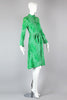 Iconic 1970s Diane Von Furstenberg Made in Italy Kelly Green Print Dress