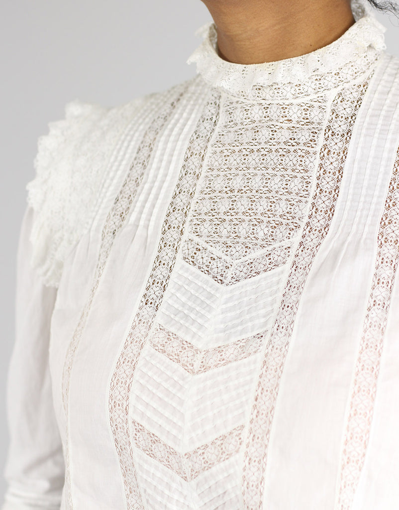 Antique Cotton Victorian Lace Blouse