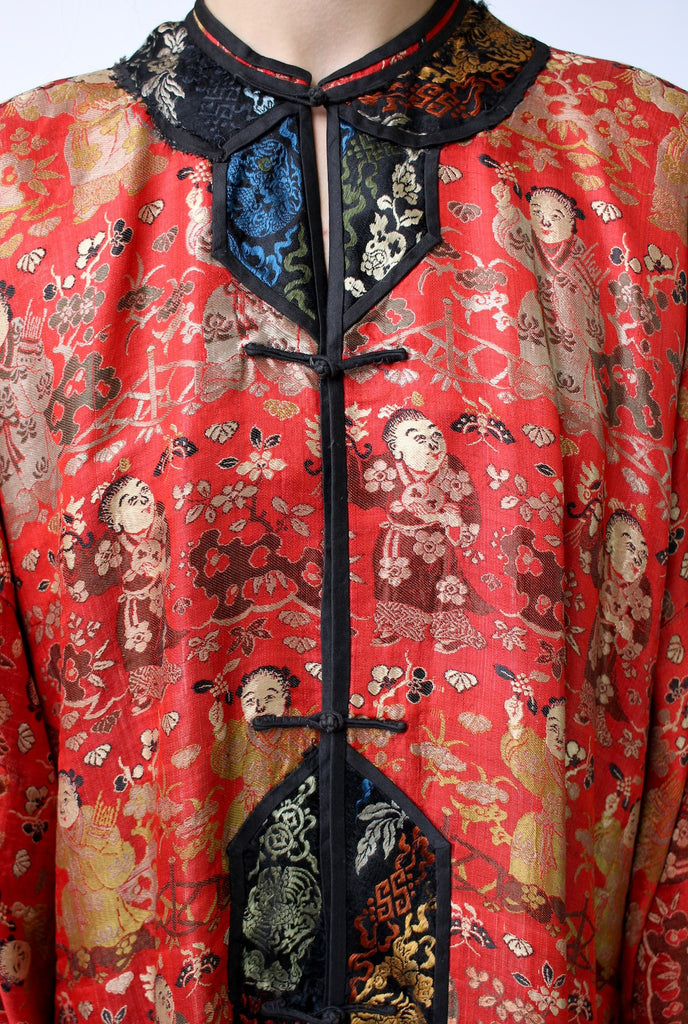 Museum Quality Antique Chinese Silk Brocade Robe 1900s-1910s