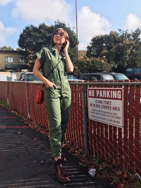 PISTOLA Coveralls in Army Green