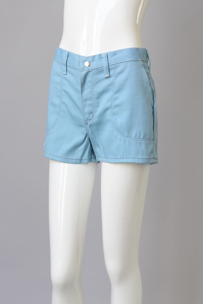 Deadstock Wranglers 1960s Blue High Waisted Denim Shorts