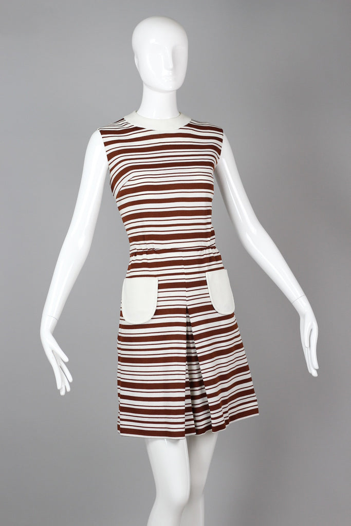 Vintage 1960s Striped Culottes Romper Playsuit