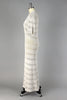 1930s Ivory Cotton Crochet Knit Dress