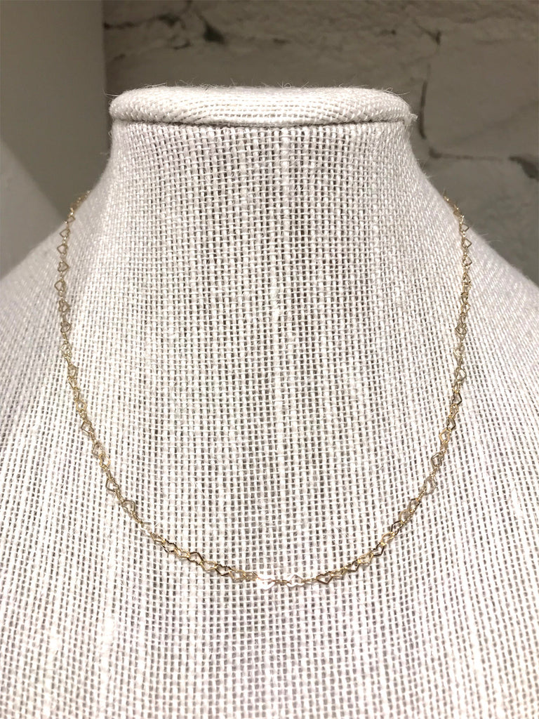 Delicate Gold Heart Chain Necklace
