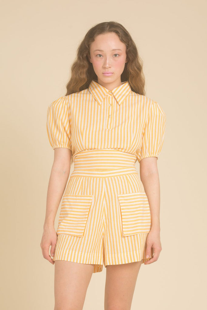 Ghost Blouse - Yellow Stripe