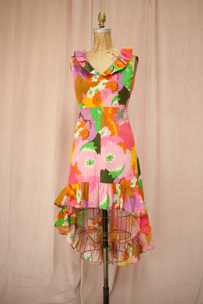 Candy Color | 60s Vintage High Low Dress