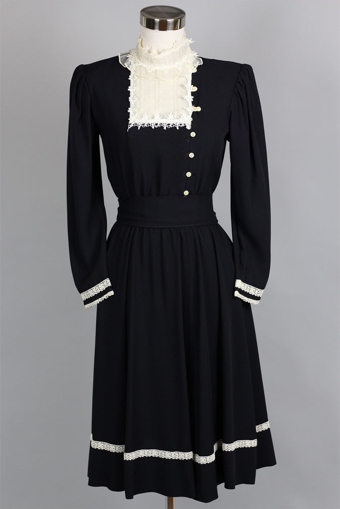Victorian Revival 1970s Gunne Sax Dress