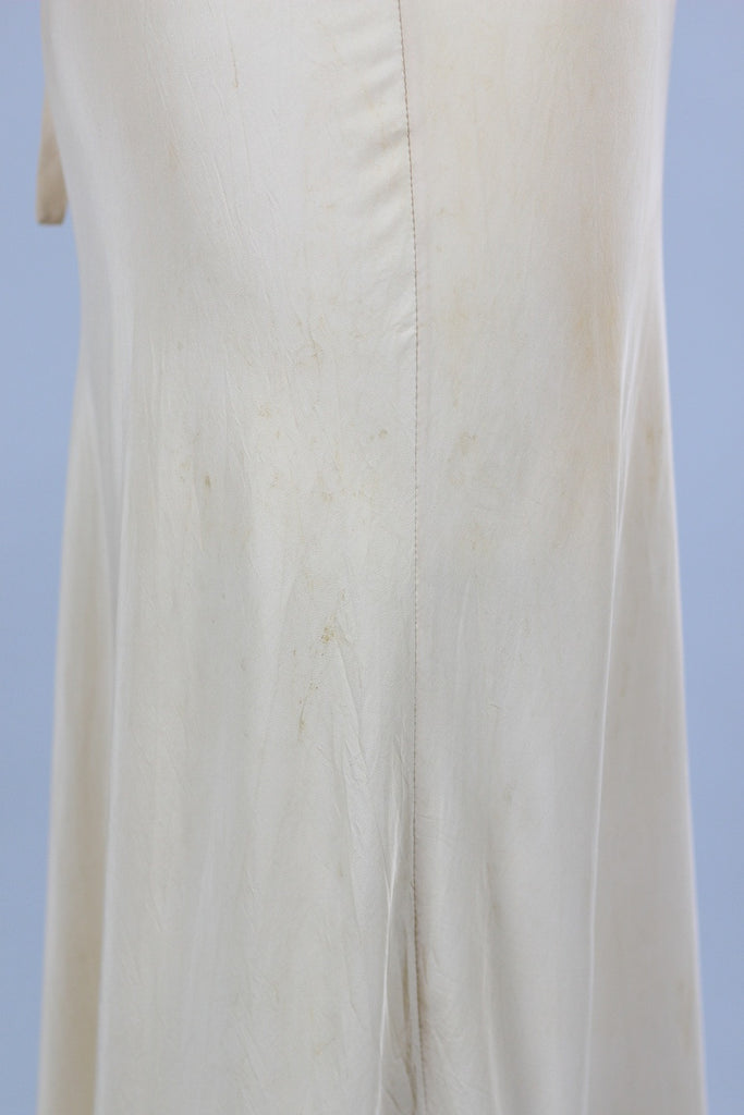 Daphne Rivoire Peach Silk Taffeta 1930s Night Gown