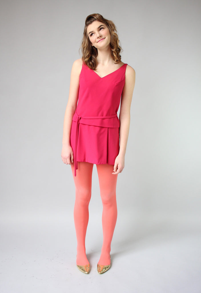 1960s Fuchsia Pink Twiggy Mini Dress