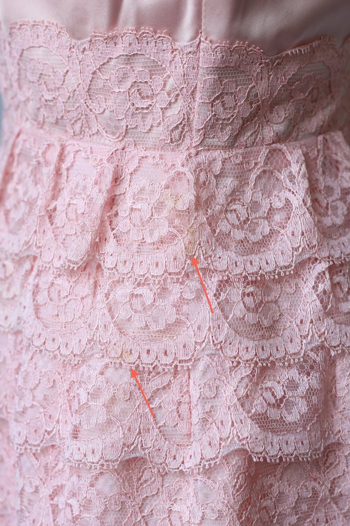 Rose Pink 1960s Lace Wiggle Dress