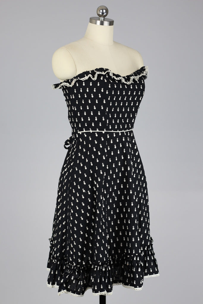 Vintage Classic Strapless Betsey Johnson Dress