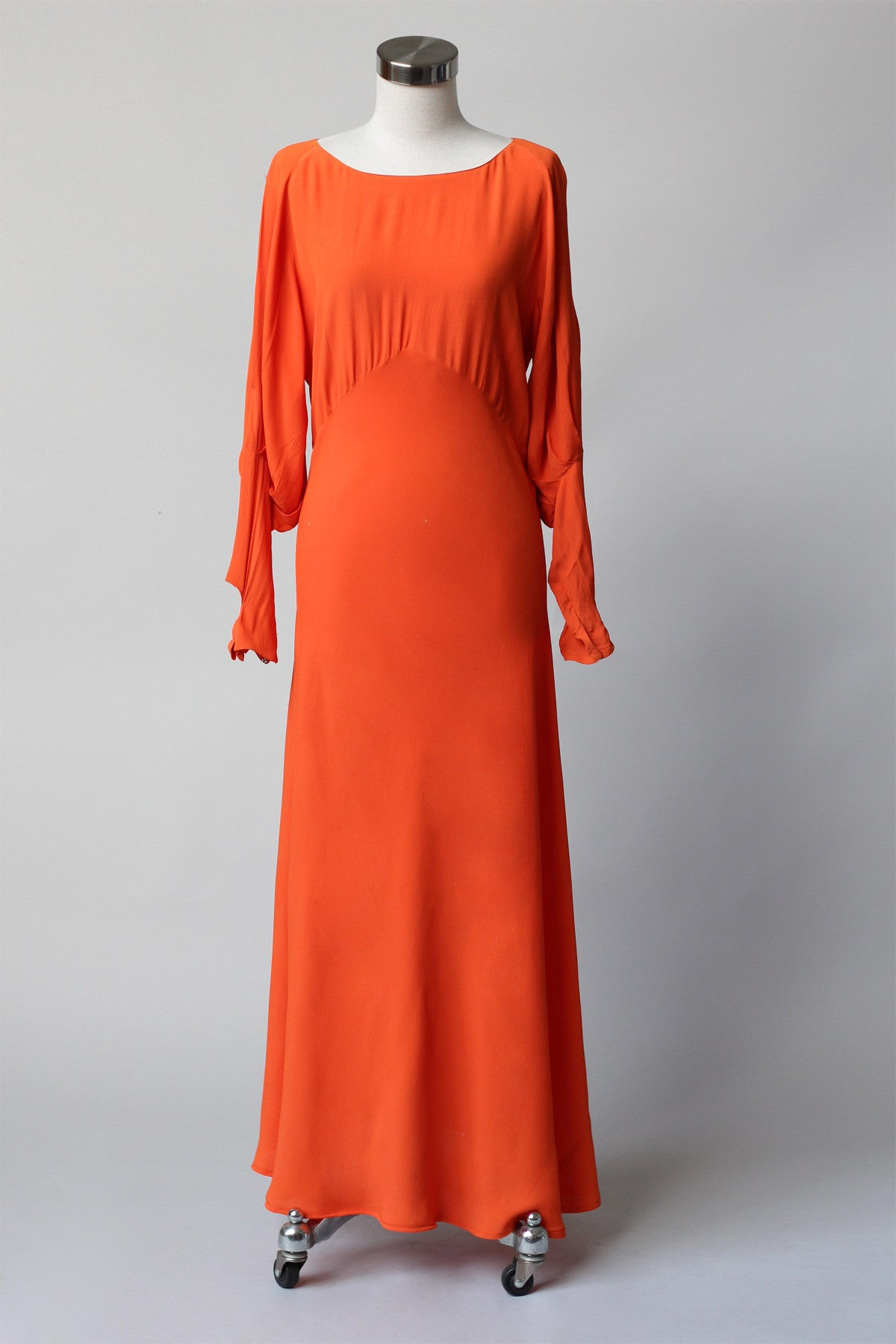 Late 1920s Early 1930s Silk Crepe Orange Gown ~ As Is – The ...