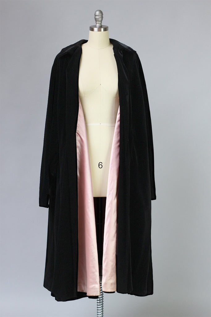 "Incredible Dior ""New Look"" 1950s Velvet Opera Coat"