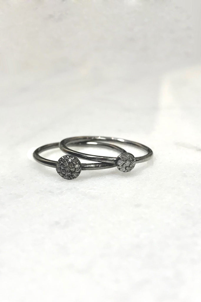 Delicate Diamond Ring Stack