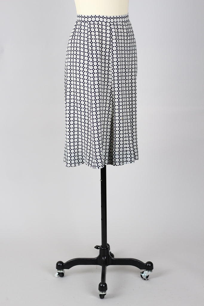 Rare 1940s Novelty Rayon Print Skirt
