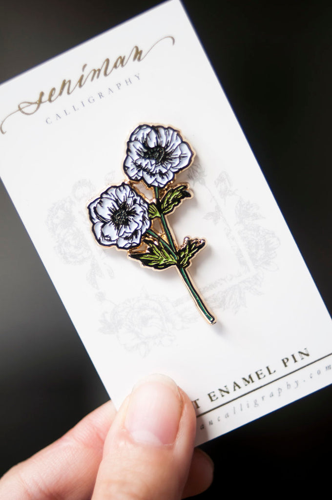 Anemone Flower Enamel Pin