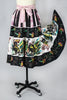 Rare 1940s-1950s Mexican Circle Skirt with Bull Fighters and Sequins