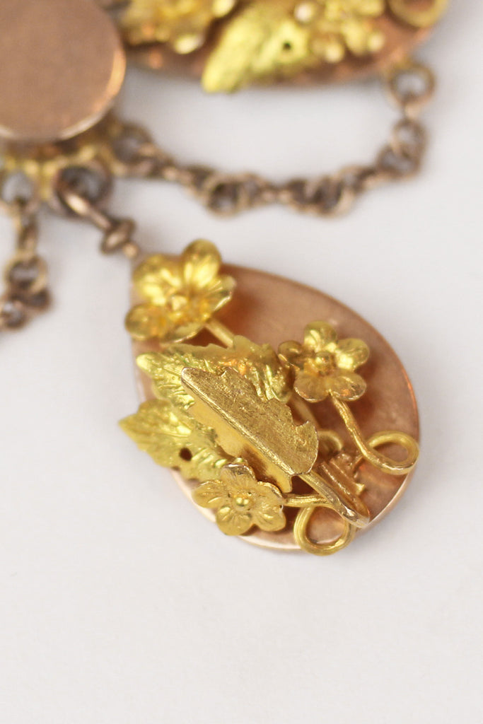 Antique 1900s-1920s 14K Gold Mexican Necklace
