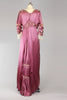 Rare Antique Victorian Plum Satin Evening Ball Gown