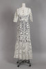 Edwardian Antique White Irish Lace & Crochet Gown