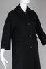 Vintage 1950s-60s Black Boucle Car Coat with 3/4 Sleeves