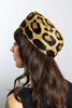 Genuine Leopard Fur 1950s Vintage Hat