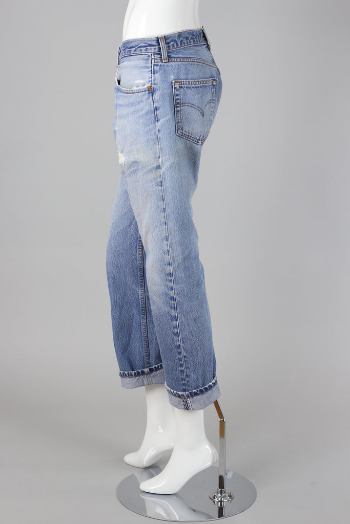 Perfect Vintage Levi's 501xx High Waist Boyfriend Jeans with Button Fly