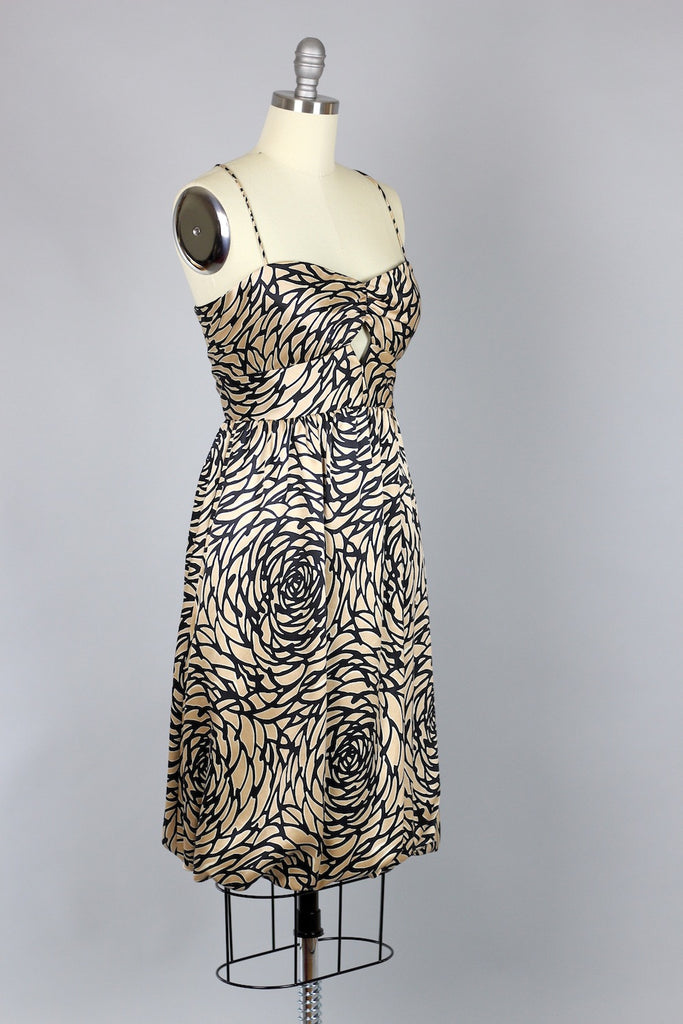 Vintage Vivienne Tam Graphic Print Silk Dress