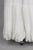 Rare Antique Victorian Scalloped Hem Wedding Petticoat
