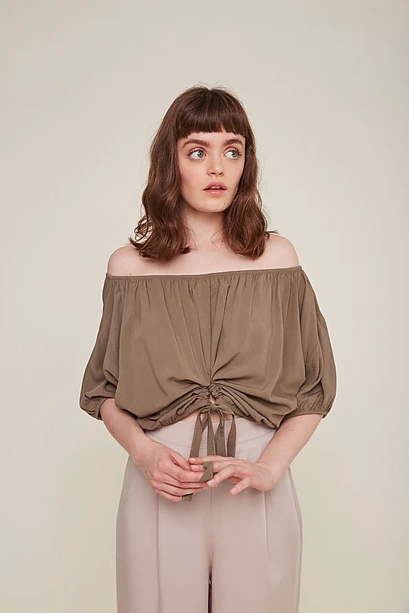 Beata Blouse in Topo