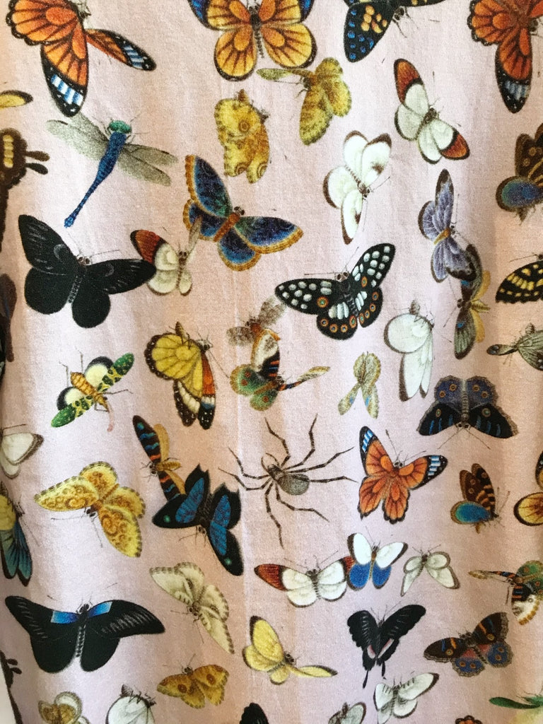 Samantha Pleet Butterfly Print Winged Bodysuit