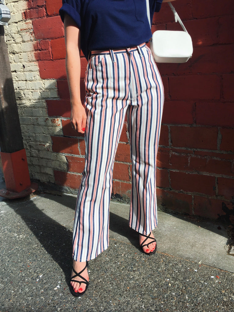 Vintage Striped Wranglers