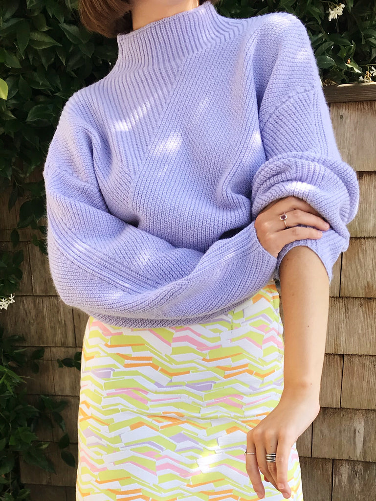 The Raya Sweater - Lilac