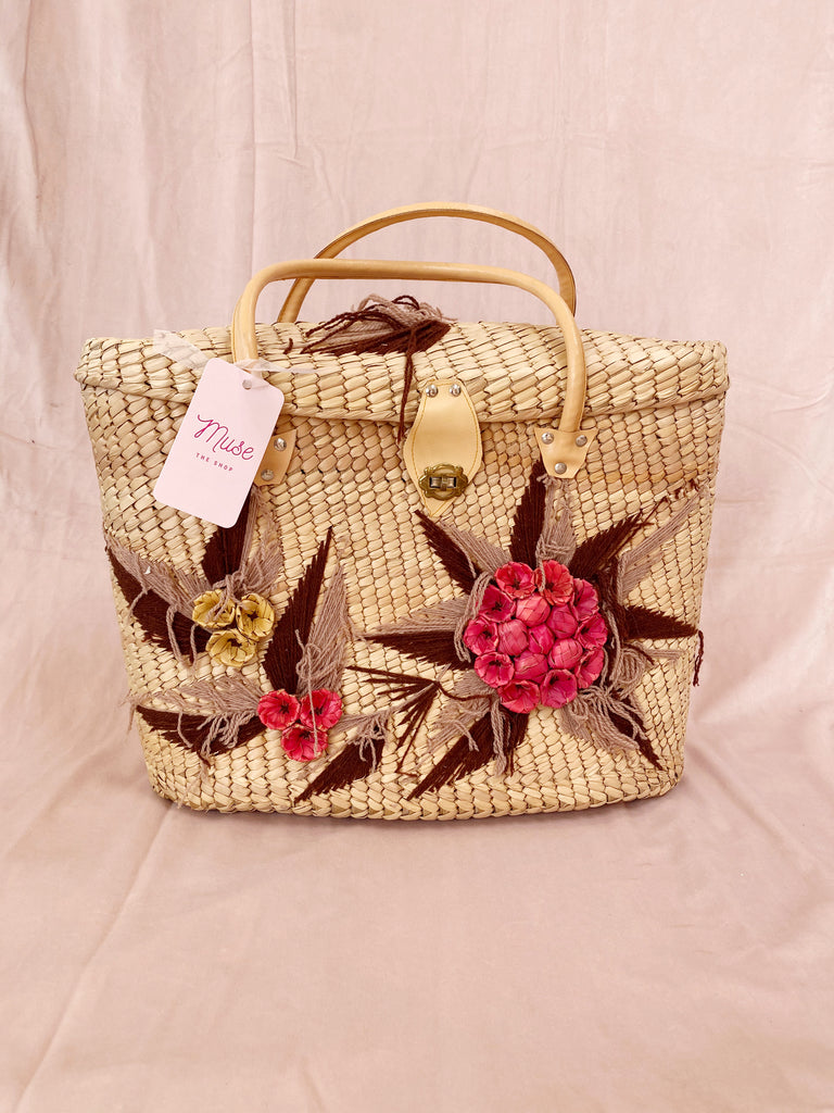 Vintage Woven Tote Bag