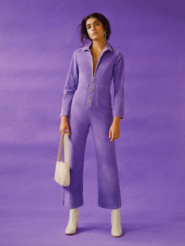 Paloma Wool Paufi Corduroy Jumpsuit - Purple