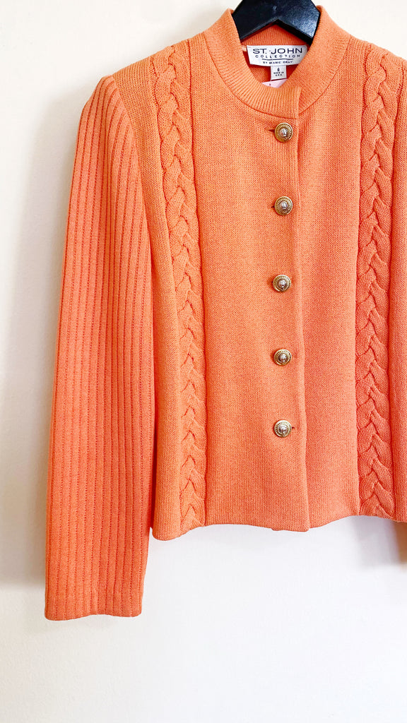 Vintage St. John Peach Knit Sweater