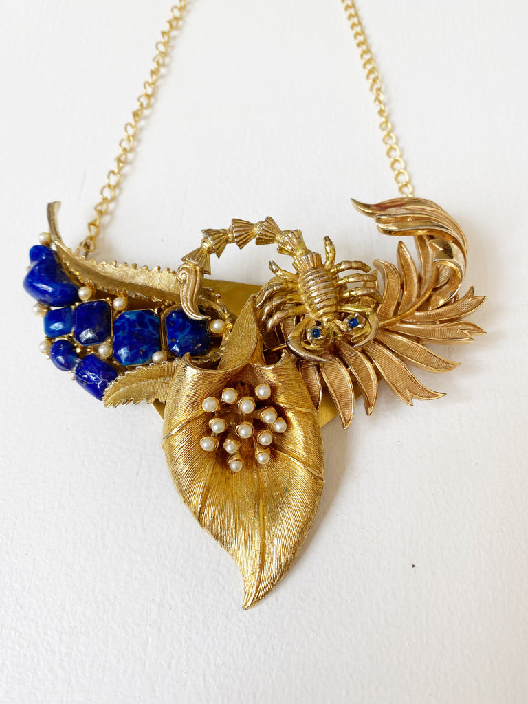 Collage Necklace in Lapis Scorpion