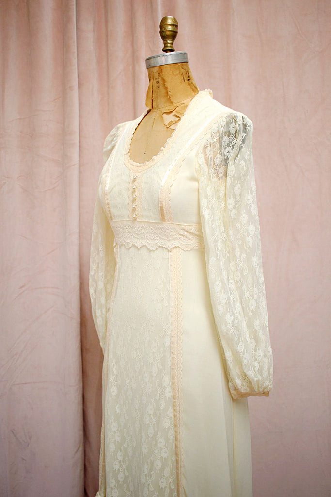 The Jessica | Vintage Gunne Sax Prairie Style Wedding Dress