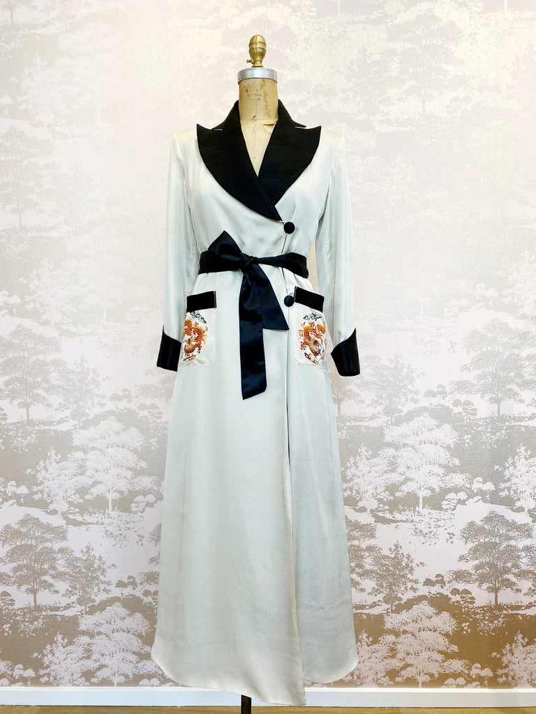 The Madame 1940s Silk Robe