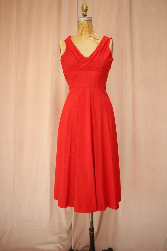 Lipstick Red 50s Swing Dress