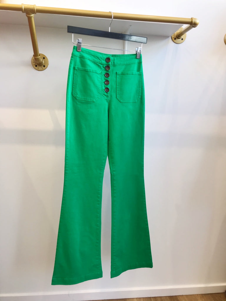 Paloma Wool Margherite Green Flared Pants