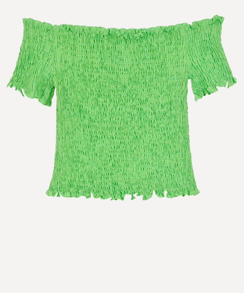 Hopper Smocked Top - Green