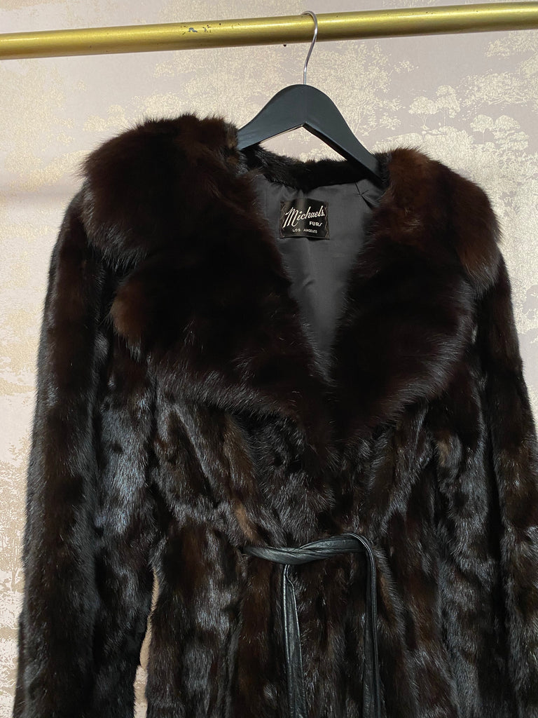 Vintage Chocolate Mink Fur Coat