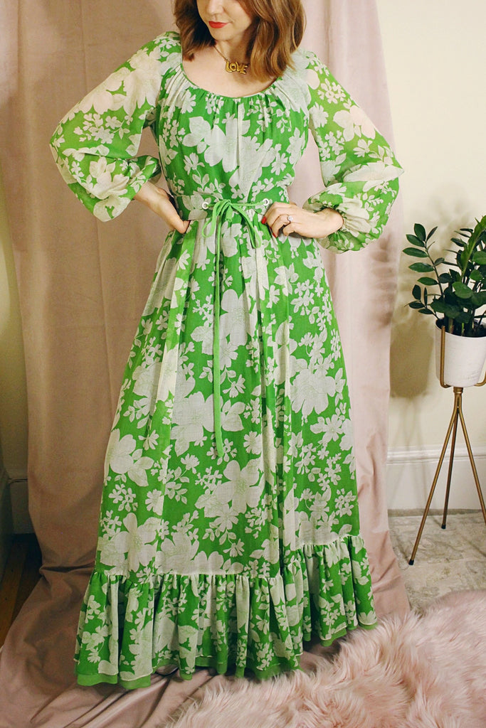 Fleurs Dress - Green