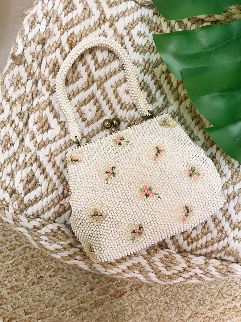 Vintage Tiny Dot Beaded Bag